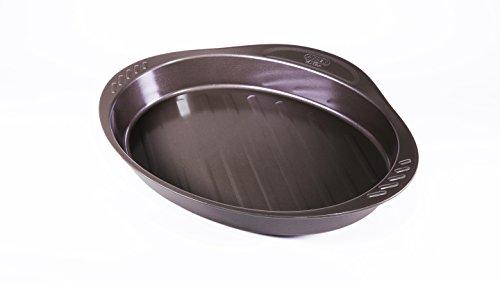 Pyrex-8010735-Asimetria-Plat-Ovale-avec-Poigne-Acier-Chocolat-4044-x-2724-x-478-cm
