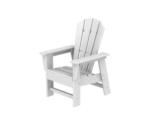Recycled Earth-Friendly Venice Beach Outdoor Kid's Adirondack Chair - White
