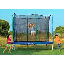 10ft trampoline with enclosure and flashing light zone