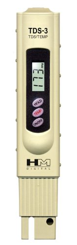 Lynxtech HM Digital TDS-3TM TDS Meter,Water Quality Temperature Electrical Tester,with Digital Thermometer LCD display,0 - 9990 ppm TDS Measurement Range, 1 ppm Resolution, +/- 2% Readout Accuracy (Zero Water Thermometer compare prices)