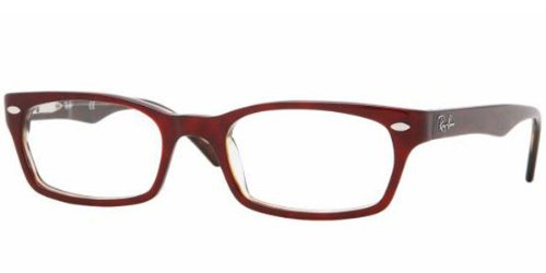 Ray Ban RX5150 Eyeglasses-2023 Dark Metallic Red/Havana-50mm Reviews
