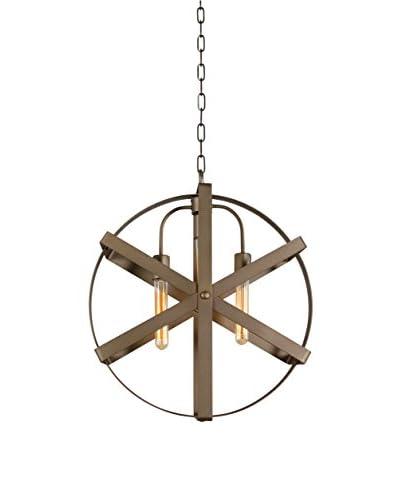 Varaluz Reel 3-Light Pendant, Rustic Bronze