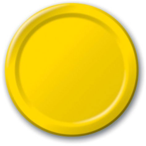 Yellow Sunshine Dessert Plates 24ct