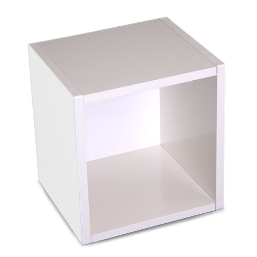Modul-Würfelregal Standregal M73, 33x34x29 cm ~ weiß, drehbar günstig