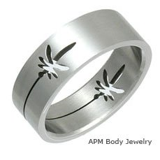 Stainless Steel Laser Cut Rings - Pot Leaf