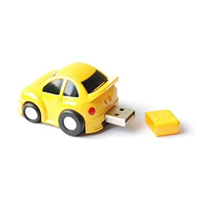 4GB Yellow Car Novelty USB Flash Drive from VTEC