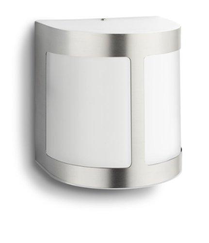 Philips Parrot Lampada da Parete a LED per Esterni, Luce Diffusa, Acciaio Inox