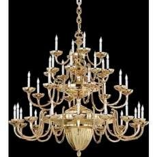 176009 - Nulco 1760 Sheraton Grande 36 Light Chandelier in Volcano