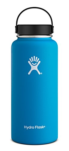 Hydro Flask 32 oz Vacuum Insulated Stainless Steel Water Bottle, Wide Mouth w/Flex Cap, Pacific