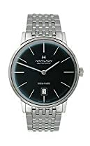 Hamilton Intra-Matic Automatic Black Dial Mens Watch H38445131