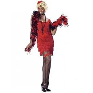 Red, Size Large (10-12) - Fringed Fashion Flapper Costume (see related items for accessories)