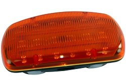 LED Amber Strobe Light - 18 LEDS - Battery Powered - Dual Magnetic Base -Continuous or Strobe Output