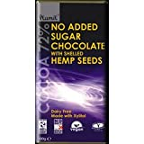 No Added Sugar Chocolate with Shelled Hemp 100g bar