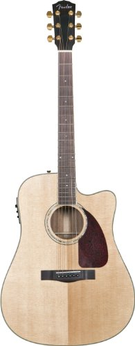 Fender Acoustic Guitars Classic Design Cd 320A Sce Dread W/ Case Dreadnaught Acoustic Cutaway Electric Guitar Solid Mahogany Back And Sides With Hard Case, Natural