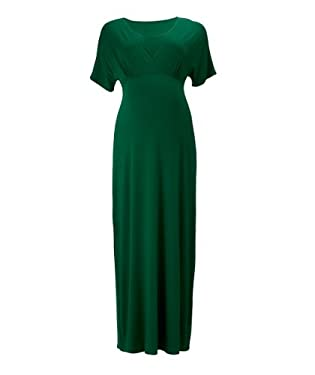 Maternity Emerald Green Kimono Sleeve Maxi Dress