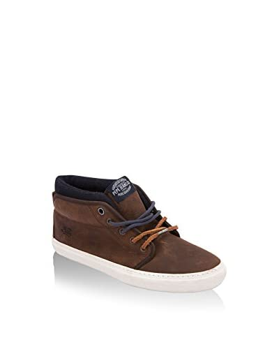 Pepe Jeans London Sneaker Alta Equis Basic [Marrone Scuro]
