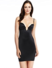 Firm Tummy Control Deep V-Neck Body Solutions Padded B-DD Full Slip