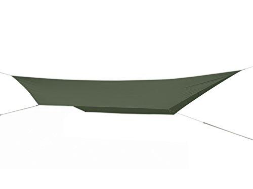 FIBEGA-SilNylon-Hammock-Tarp-480cm-x-280cm-Sechseck-Form-fr-Hngematten-Schlfer-olive