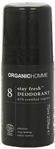 Organic Homme 8 Stay Fresh Deodorant (75ml)