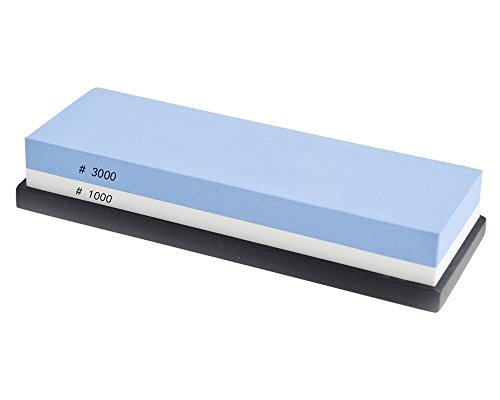 Knife Sharpening Stone, Hiware Corundum Whetstones, 1000/3000 Grit Whetstone, Two-Sided Sharpening Stone with Silicone Non-Slip Safety Stand Included