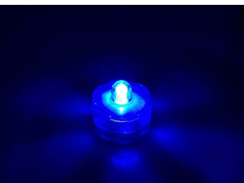 Waterproof Wedding Underwater Battery Sub Lights Led 10 Lights~Blue~Wedding~Tea Light