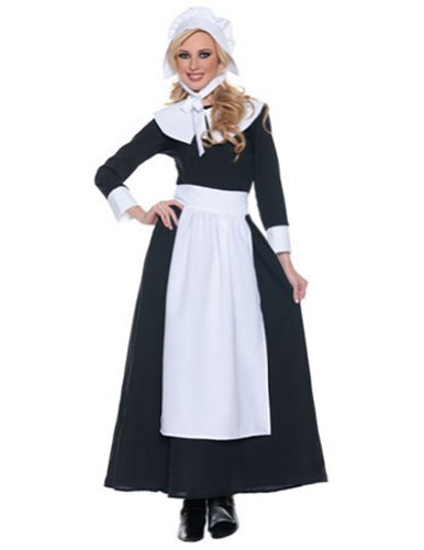 Pilgrim Woman Xlg Thanksgiving Pilgrim Costume - Adult Extra Large