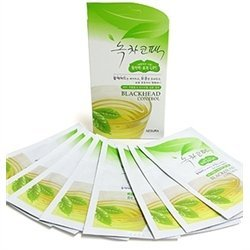 Korean Cosmetics_Nesura Blackhead Control Green Tea Strips for Nose Care_8 sheets