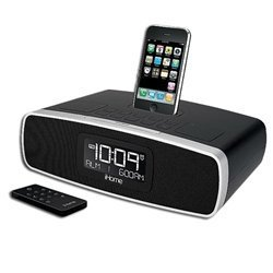 iHome iP90 Dual Alarm Clock Radio AM/FM Presets & Dock for iPod and iPhone (Not Compatible w/ iPhone 5) (Black) ...