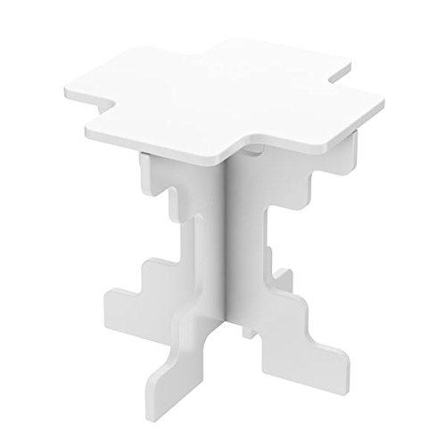 Incastro Quito Small Elegance Tavolino da Caffè trasformabile. Cm 42 x 42 x 44 Disponibile bianco e betulla