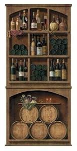 Wine cellar peel stick wall mural prints for Wine cellar wall mural