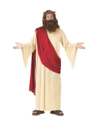 Costume-Wig Jesus With Wig And Beard Halloween Costume - Most Adults