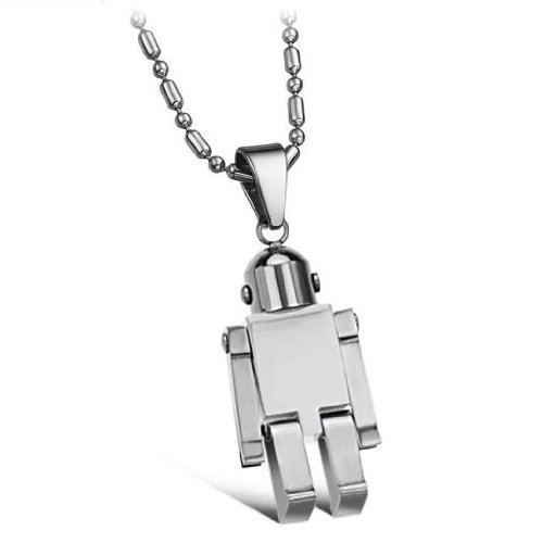 Opk Jewellery Fashion Cool Stainless Steel Necklace Cute Silver Transformable Pendant For Boy's And Girl's Necklets