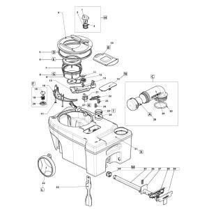 lasermax schwimmer f r thetford f kalientank c250 c260. Black Bedroom Furniture Sets. Home Design Ideas