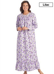 Floral Flannel Gown - Misses Sizes