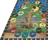 "Joy Carpets Kid Essentials Geography & Environment Tree of Life Rug, Multicolored, 7'8"" x 10'9"""