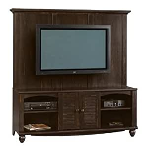 Antique Black Flat Screen Tv Entertainment Center Home Entertainment Centers