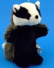 Badger Hand Puppet Soft Toy 28cm (RBP12) by Dowman Imports Ltd