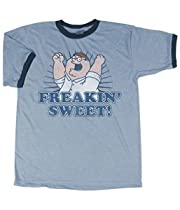 Family Guy Peter Freakin Sweet with Ringers Light Blue T-shirt Tee