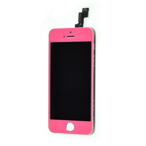 New For Iphone 5S Yellow/Light Blue/Dark Blue/Orange/Pink/Green/Candy Pink/Red/Purple Colored Complete Front Housing Lcds Display And Touch Screen Digitizer Assembly+Home Button Key Color Conversion Kit Replacement Spare Parts, Free Tools, Epacket Shippin