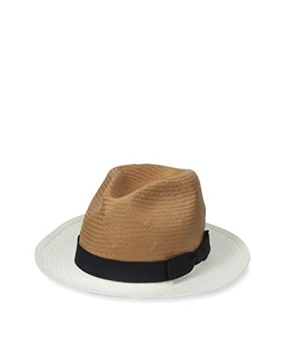Rossovivo Men's Louis Hat, White/Cognac