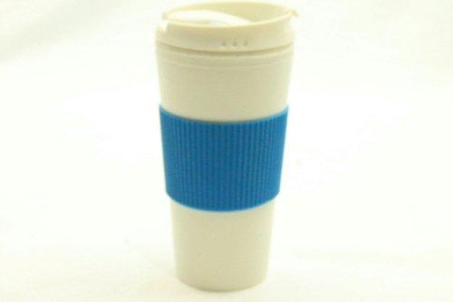 White 16 Oz Tumbler Baby Blue Wrap Sleeve & Lid Travel Mug