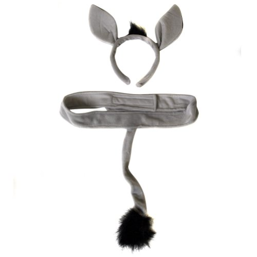 Plush Donkey Headband Ears and Tail Costume Set - 1