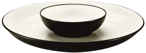 Noritake Colorwave Chip and Dip Server, 13-3/4-Inch, Chocolate