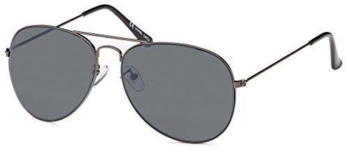 BEZLIT Pilotenbrille Police Sonnenbrille Herren Sunglasses Sonne Brille B505, Rahmenfarbe:Eloxiert;Linsenfarbe:Schwarz