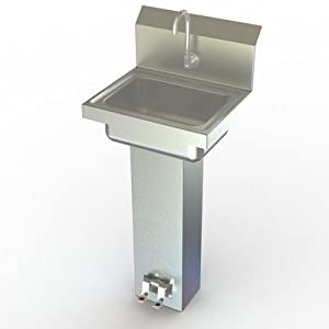 Pedal Stool Sink : NSF Foot Operated Pedal Hand Sink: Wall Mounted Sinks: Amazon.com