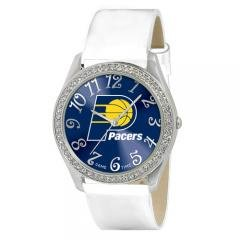 Indiana Pacers NBA Glitz Feminine White Watch Bracelet - Ladies Sports Fashion... by NBA