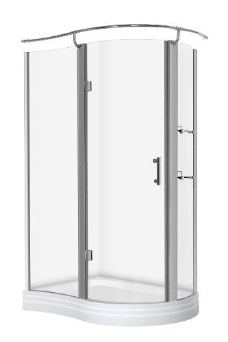 Duschkabine Halbrund Schiebet?r : kerra rund duschkabine mit duschbecken 120 x 90 x215 rund duschkabine
