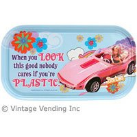 "Barbie ""Plastic Look"" Magnetic Tin Sign - 1"