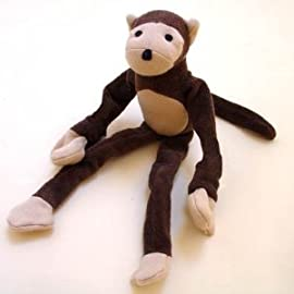 Sckoon Organic Cotton Baby Doll Monkey - Brown