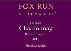 2011 Fox Run Vineyards Reserve Chardonnay, Kaiser Vineyard 750 Ml